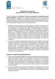 Declaratoria Seminario Familias El Colegio de México. Enero 2009