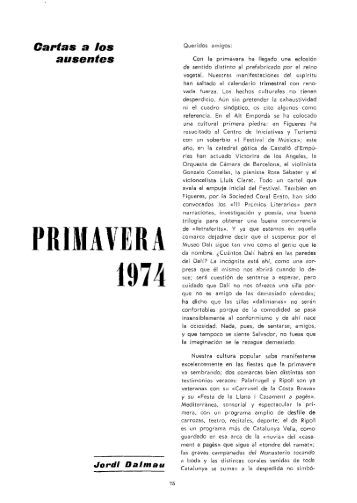 PRIMAVERA 1974 - Revista de Girona