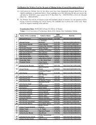 Notification for Written Test_MS-GRD - MCL