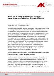 sammlung von Präsident Siegfried Pichler - Arbeiterkammer ...