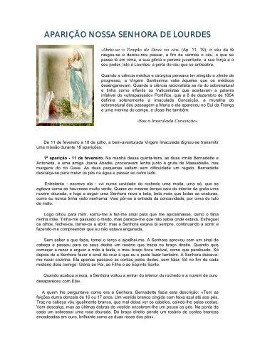 aparição nossa senhora de lourdes - Santíssima Virgem Maria