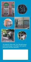 Ob Geländer, Gitter oder Tore, Überdachungen oder Einzäunungen ...
