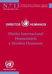 Direito Internacional Humanitário e Direitos Humanos