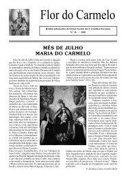 Flor do Carmelo Nº 36 - Ordem dos Padres Carmelitas Descalços
