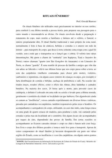 RITUAIS FÚNEBRES• - Digital Mundo Miraira