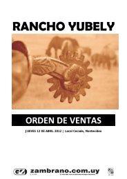 RANCHO YUBELY - Zambrano & Cía.