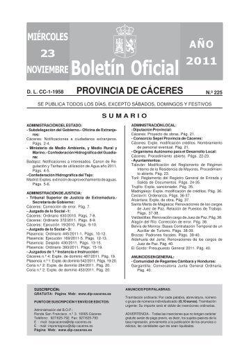 Boletín Oficial - Diputación de Cáceres