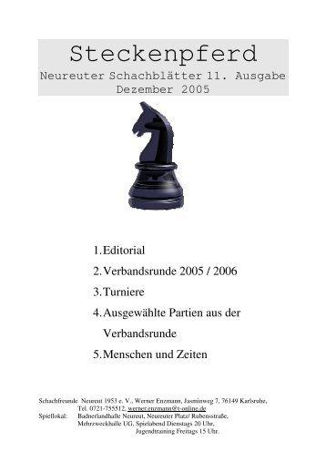 Schachblätter 12-2005 - Schachfreunde Neureut 1953 e.V.