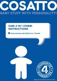 CABI 3 IN 1 COMBI INSTRUCTIONS - Cosatto