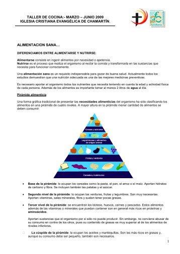 Tipos de nutrientes - Iglesia Cristiana Evangélica de Chamartín