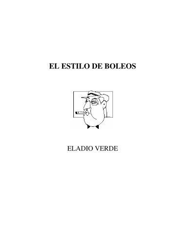EL ESTILO DE BOLEOS - Eladio Verde - Obras completas