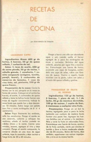 RECETAS DE COCINA - Banco de Seguros del Estado