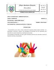 Guía Curricular No. 1 Dimensión Estética Transición IV Periodo