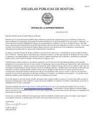 Anti-Bullying Letter for Families Spanish - Boston Public Schools