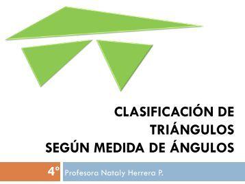 Matemática ppt - Clasificación de triángulos según la medida
