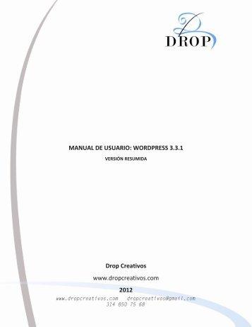 MANUAL DE USUARIO: WORDPRESS 3.3.1 Drop Creativos www ...