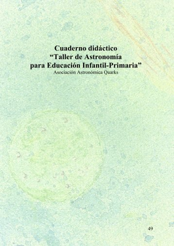 "Cuaderno didáctico ""Taller de Astronomía para Educación Infantil ..."