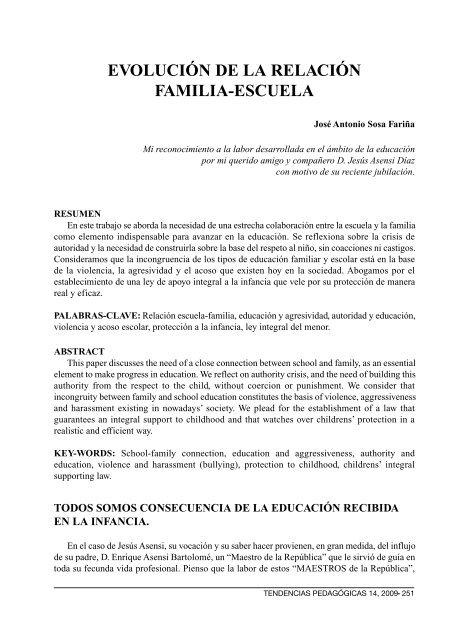 Evolución De La Relación Familia Escuela Revista