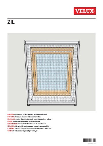 English Installation Instructions For Insect Roller Screen Velux