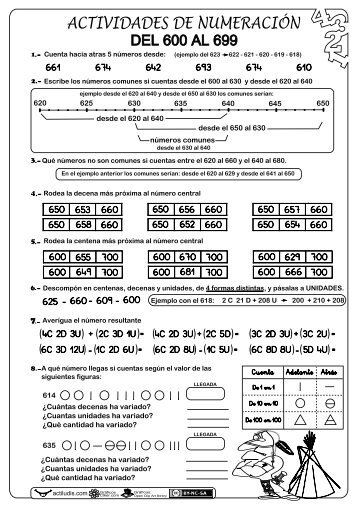 Numeración-del-600-al-999 - Actiludis