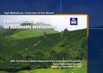 A business case for sustainable development