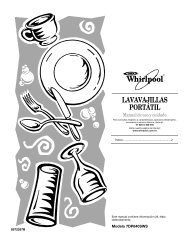 LAVAVAJILLAS PORTÁTIL - Whirlpool Corporation