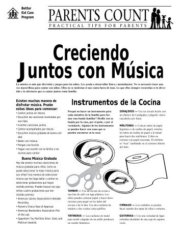 Creciendo Juntos con Música / Colectando ... - Better Kid Care