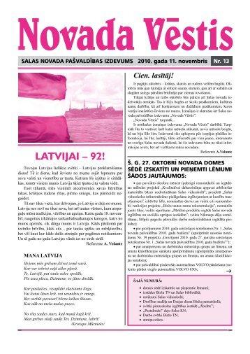 Novada vēstis Nr.13 - Salas Novads