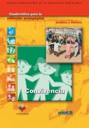 Cuadernillos para la reflexión pedagógica Convivencia