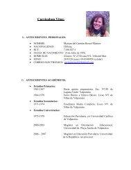 Curriculum Vitae Myriam - Red Maestros de Maestros