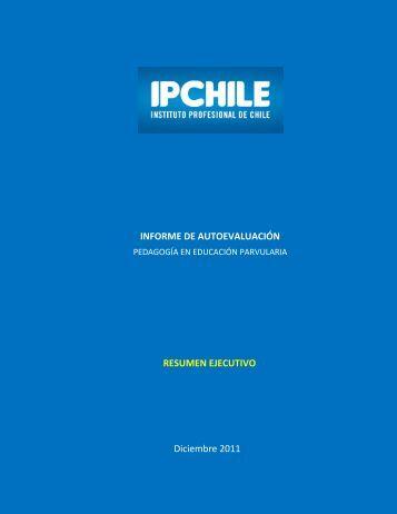 Resumen Ejecutivo IAE Pedagogía en Educación Parvularia - IPChile