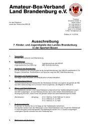Ausschreibung 7. Kinder - Amateur Box-Verband Land Brandenburg ...