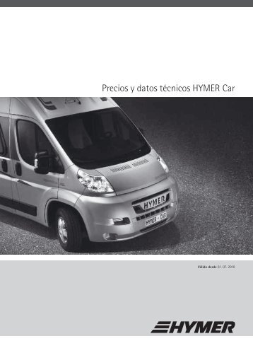 Precios y datos técnicos HYMER Car