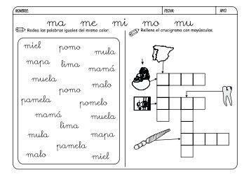 metodo de lectoescritura jose boo Letra M - Orientacion Andujar