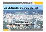 Die Stuttgarter Integrationspolitik g g p - Schader-Stiftung