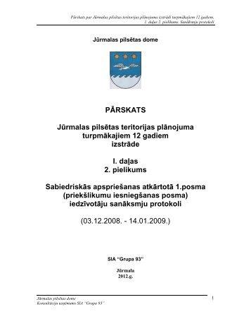 PĀRSKATS Jūrmalas pilsētas teritorijas plānojuma turpmākajiem 12 ...