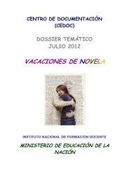 dossier julio 2012 b - Centro de Documentación - Instituto Nacional ...