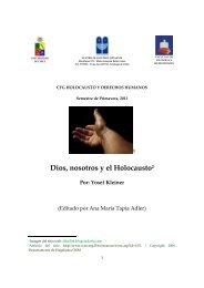 Dios, nosotros y el Holocausto2 - Universidad de Chile