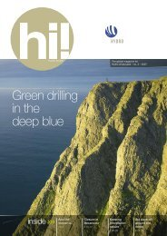 Green drilling in the deep blue