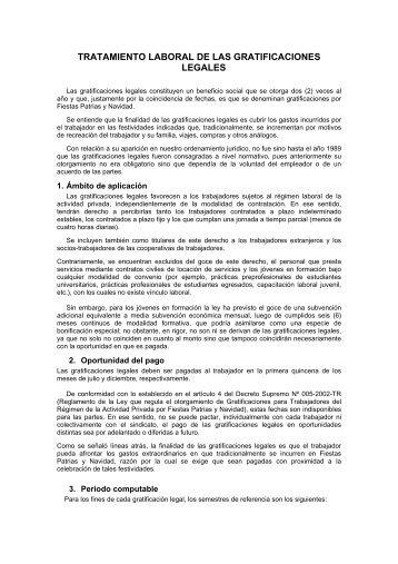 tratamiento laboral de las gratificaciones legales - Soluciones ...
