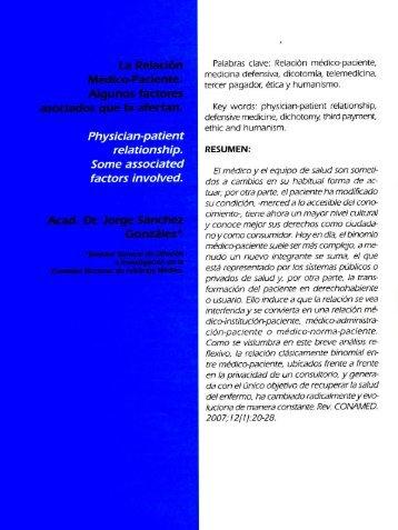 Artículo Relación Médico Paciente