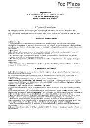 Regulamento Ação Promocional no Centro Comercial Foz Plaza ...