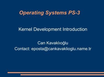 Operating Systems PS-3