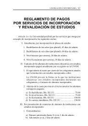 reglamento de pagos por servicios de incorporacion y revalidacion ...