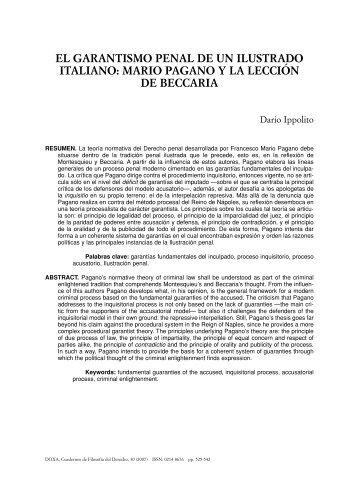 el garantismo penal de un ilustrado italiano: mario pagano y ... - RUA