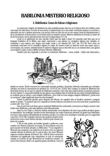 BABILONIA MISTERIO RELIGIOSO - INFONOM
