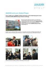 AMANN wird zum Global Player - AMANN Group
