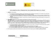 documentación preceptiva para el pago de la subvención