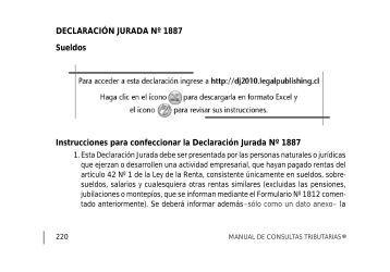 Declaración Jurada N° 1887 - Legal Publishing