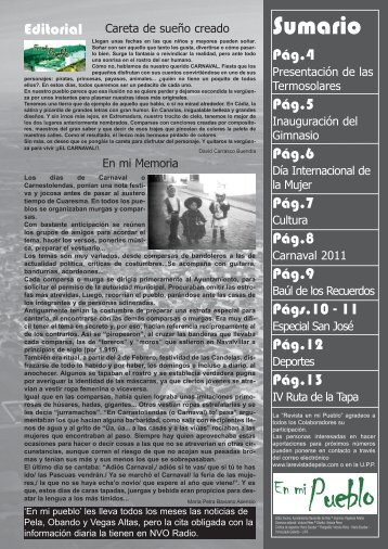 Revista En mi Pueblo Marzo (interior) - Navalvillar de Pela